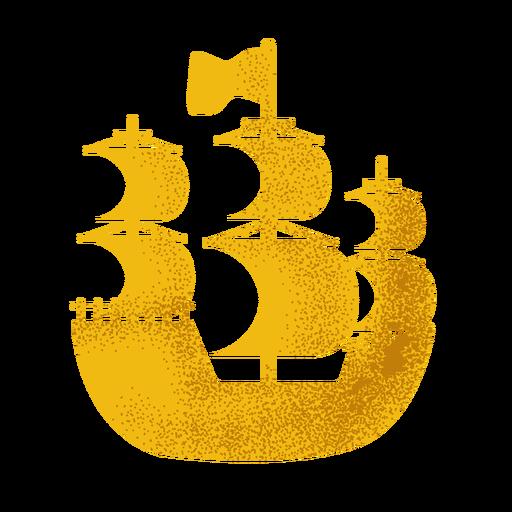 Icono de barco de vela pirata