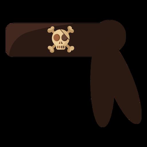 Pirate skull bandana black Transparent PNG