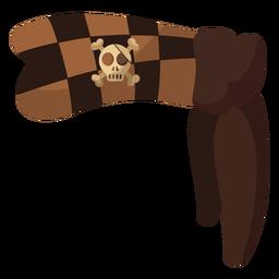 Piratenschädel Bandana Checker