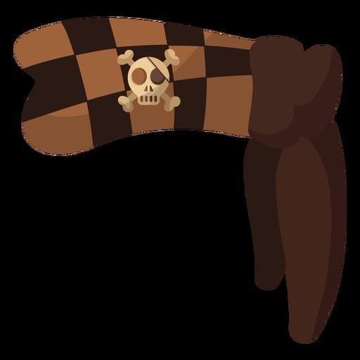 Pirate skull bandana checker Transparent PNG
