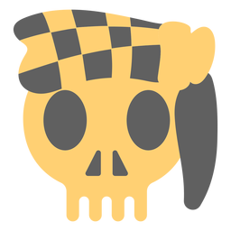 Pirate skull bandana illustration