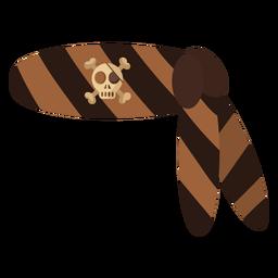 Faixa de bandana de caveira pirata
