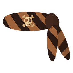 Pirate skull bandana stripe
