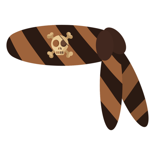 Pirate skull bandana stripe Transparent PNG
