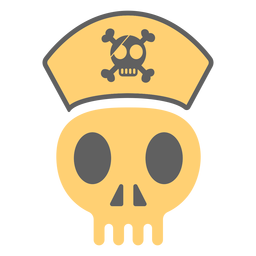 Pirate skull cap illustration