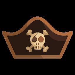 Icono de gorra de capitán de calavera pirata