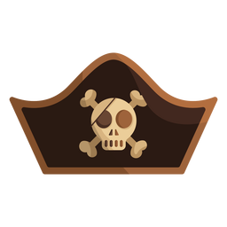Pirate skull captain cap icon