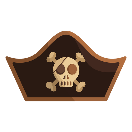 Pirate skull captain cap icon Transparent PNG