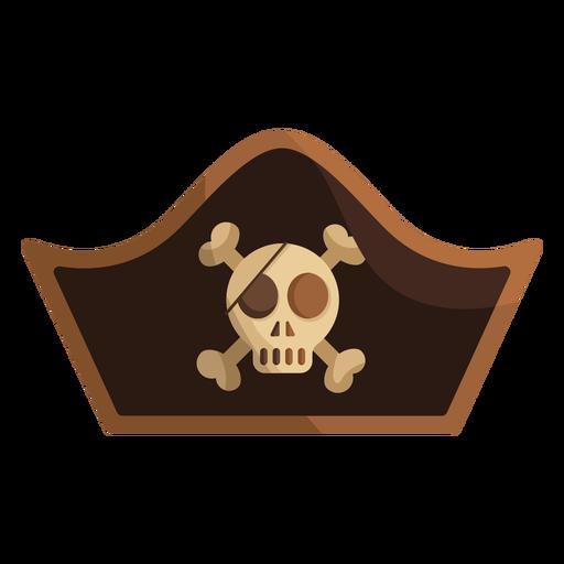Pirate skull captain cap icon