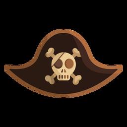 Ilustración de gorra de capitán de calavera pirata