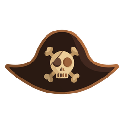 Pirate skull captain cap illustration