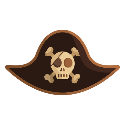 Pirate skull captain cap illustration Transparent PNG