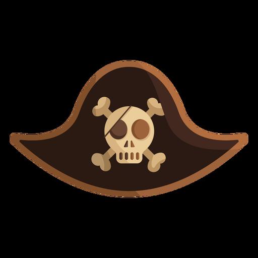 Pirate skull captain cap illustration