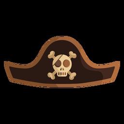 Icono de sombrero de capitán de calavera pirata
