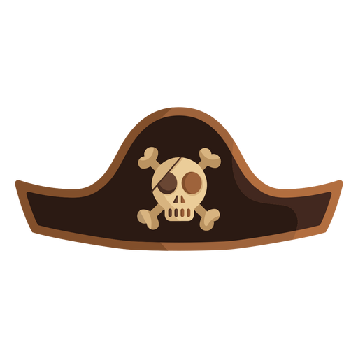 Pirate skull captain hat icon Transparent PNG
