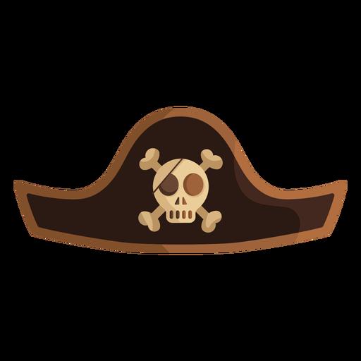 Pirate skull captain hat icon