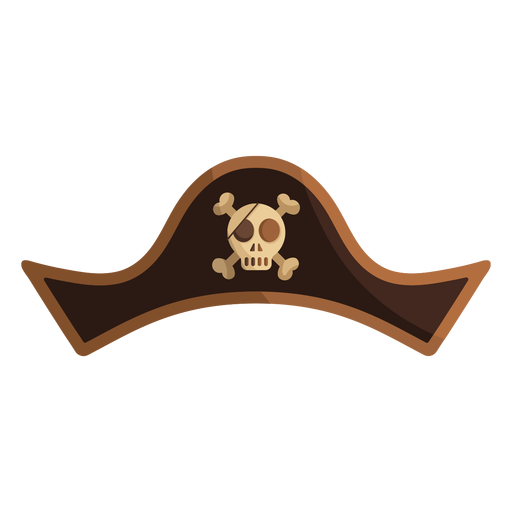 Pirate skull captain hat illustration Transparent PNG