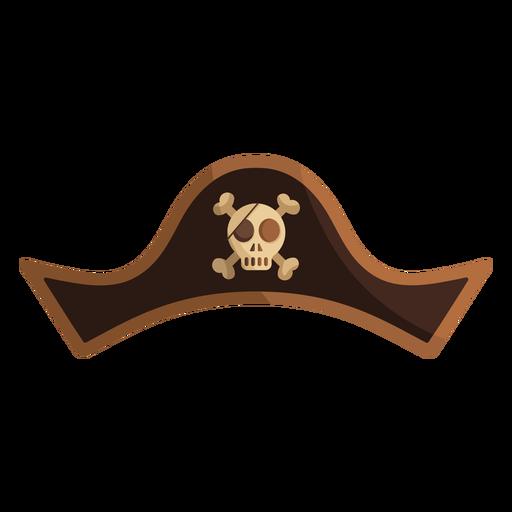 Pirate skull captain hat illustration