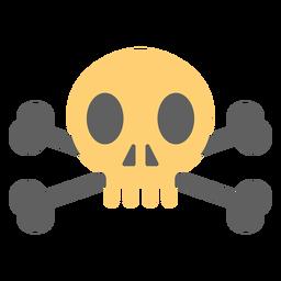 Calavera pirata sobre esqueleto ilustración