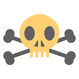 Pirate skull over skeleton illustration