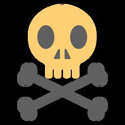 Ilustración de esqueleto de calavera pirata