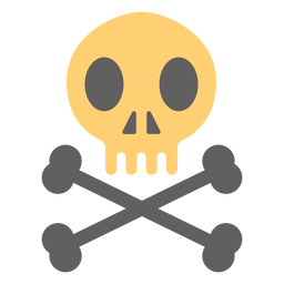 Pirate skull skeleton illustration