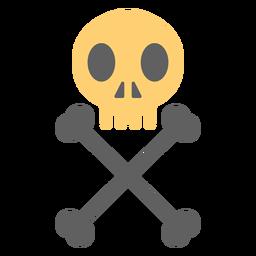 Ilustración de esqueleto de cráneo pirata vertical