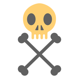 Pirate skull skeleton illustration vertical
