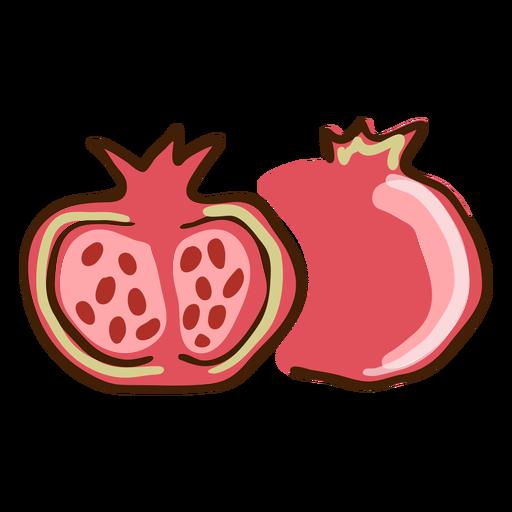Granada fruta dibujada a mano Transparent PNG