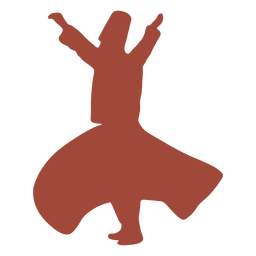 Profile dervish turkish dancer silhouette