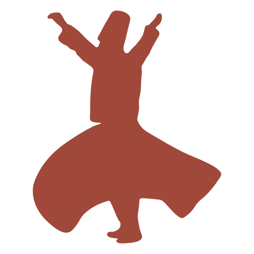 Profile dervish turkish dancer silhouette Transparent PNG