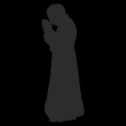 Plantilla de perfil sacerdote orando clero