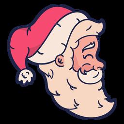 Perfil cabeça de Papai Noel vintage