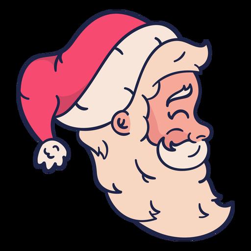 Profile vintage santa head