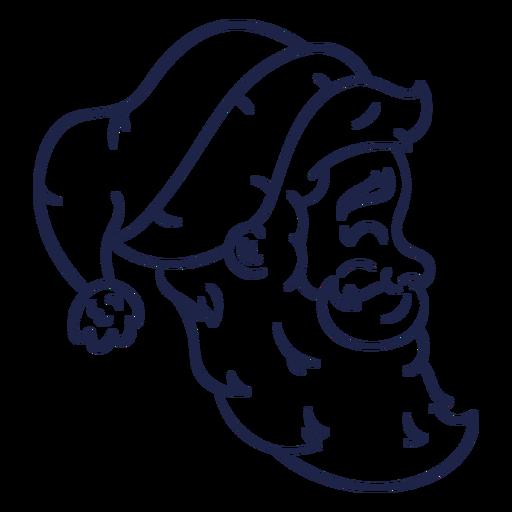 Profile vintage santa head stroke