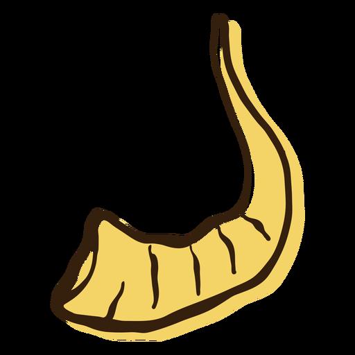 Ram animal horn hand drawn