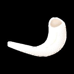 Cuerno de carnero con textura blanca