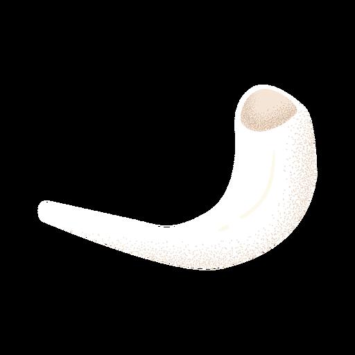 Cuerno de carnero blanco texturado