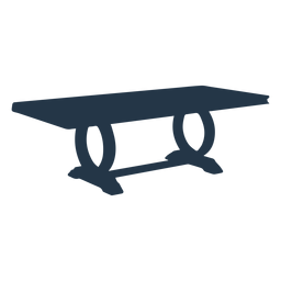 Rectangular coffee table circle legs silhouette perspective