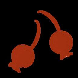 Baya roja con textura