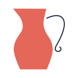 Red jug illustration