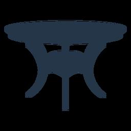 Perspectiva de silueta de mesa lateral clásica redonda