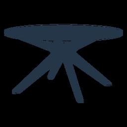 Perspectiva de silueta de mesa de centro lateral redonda moderna