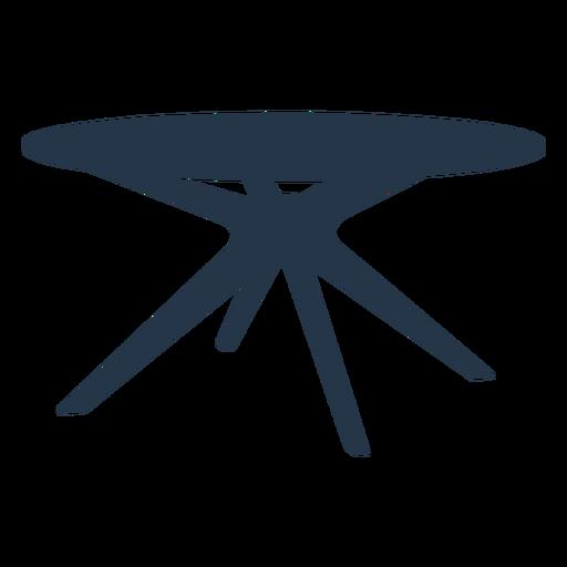 Perspectiva de silueta de mesa de centro lateral redonda moderna Transparent PNG