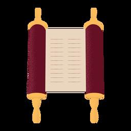 Scroll scripture illustration flat