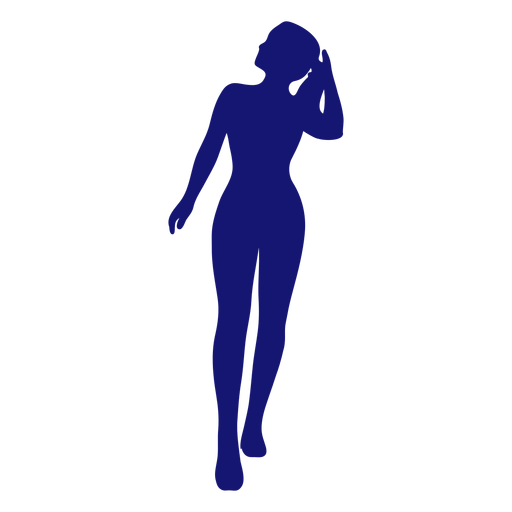 85623806218199062f397b6b42b0d3ca-sexy-girl-front-view-pony-tail-touching-silhouette-blue-by-vexels.png