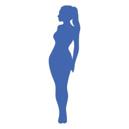 Sexy girl profile silhouette blue