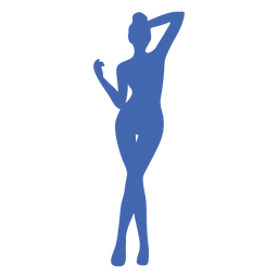 Sexy girl standing posing silhouette blue