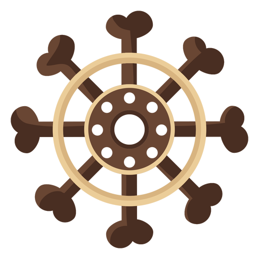 Ship steering wheel flat icon Transparent PNG