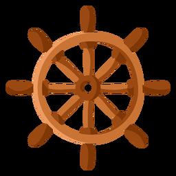 Ilustración del volante de la nave plana